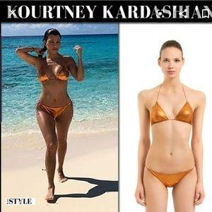 SEXY Oseree Metallic Bikini Gold S